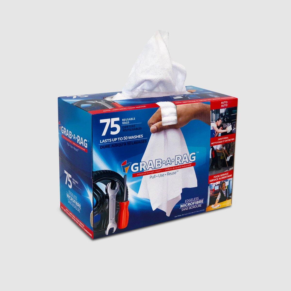 Grab-A-Rag 75PK Microfiber Rags