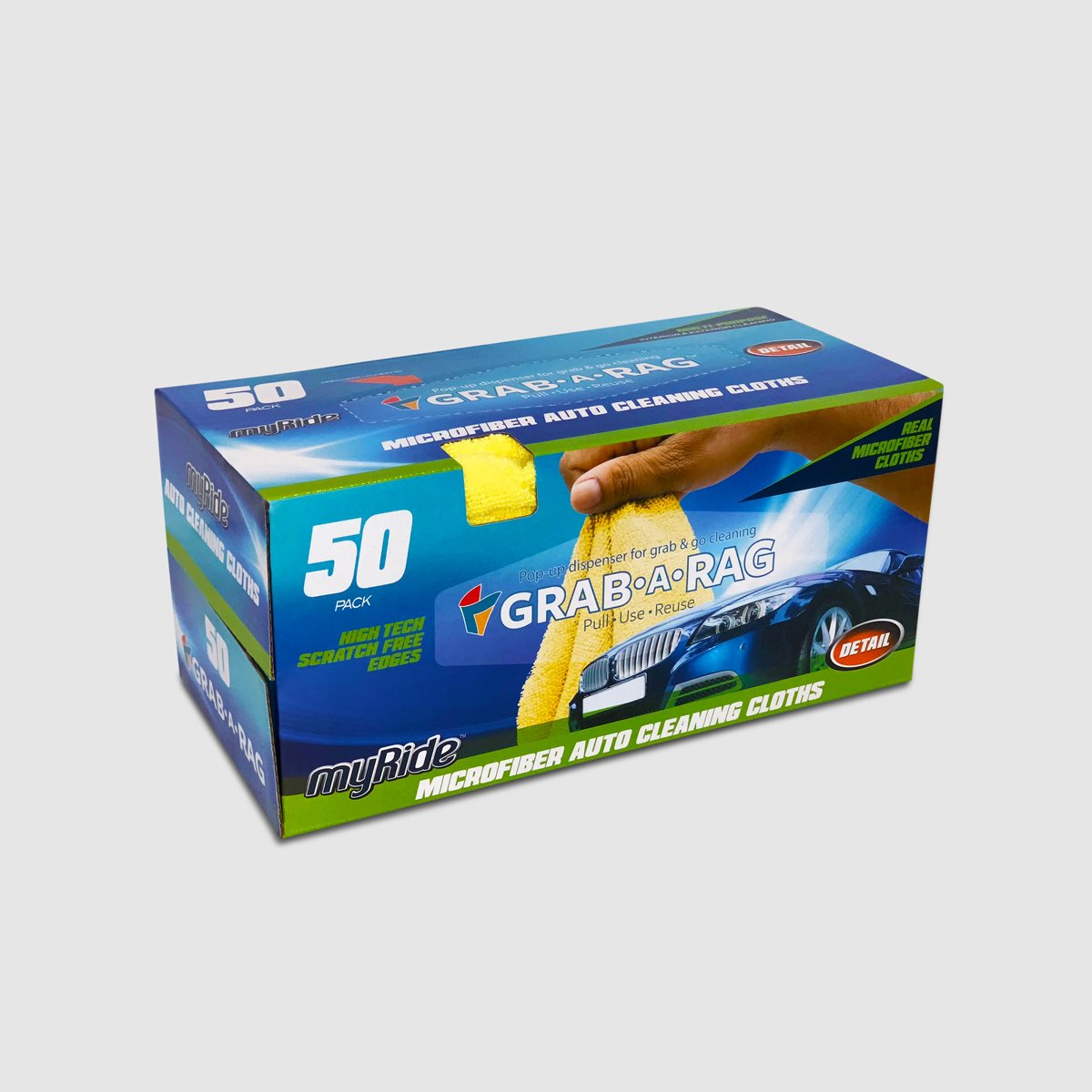 Grab-A-Rag 50PK Microfiber Rags